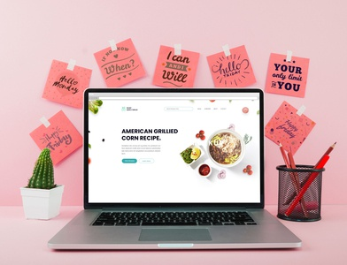 Web Page Design corporate delicious food business bootstrap