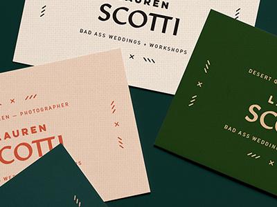 Branding print lauren scotti by lindsey pruitt dribbble realistic business cards mockup 4 reheart Choice Image