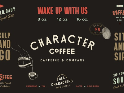 Brand Identity, Character Coffee — by Soul Twin Studio