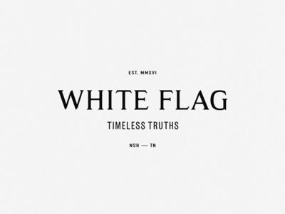 White Flag Identity, by Soul Twin Studio