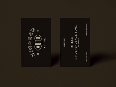 Kindred Auto — Print Collateral, by Soul Twin Studio