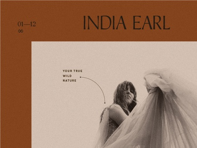 WIP— India Earl Identity photography branding photography graphic design vintage type print design identity typography branding