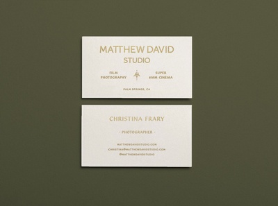 Collateral for Matthew David Studio, by Soul Twin