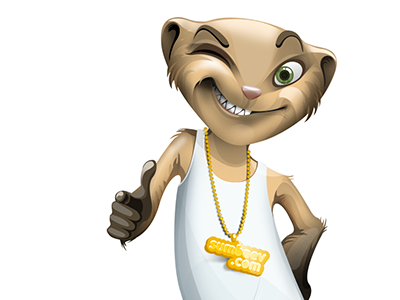 Polecat character friendly mascot