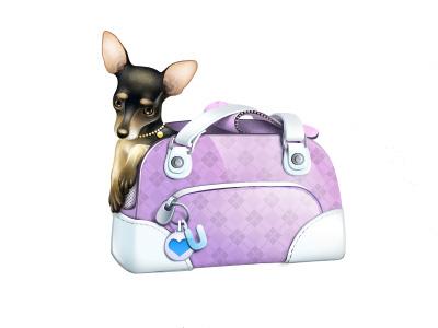Little Poor Baby! dog gift character icon bag