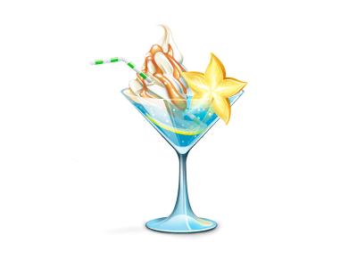 Cocktail icon cocktail glass ice-cream yummi gift