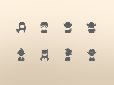 Users 48x48 icons user 48x48 elf nerd punf viking girl batman spy boy