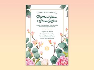 Wedding Invites watercolor flowers graphic design design rsvp marriage wedding invitation wedding invitations