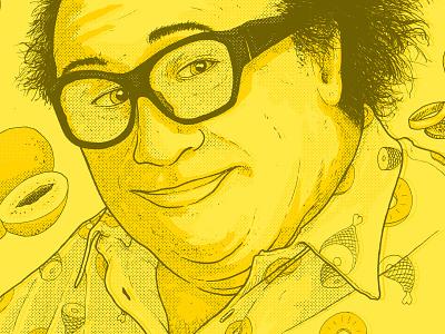 Frank texture illustration drawing glasses rum ham poster print halftones portrait always sunny frank reynolds iasip