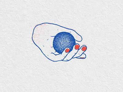 Handball print ball hand poster texture drawing ink wip illustration