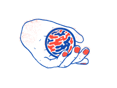 Handball 2 poster texture ink illustration drawing hand warp