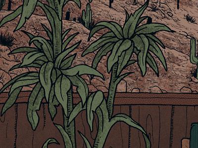 Work in Progress photoshop work in progress album art arizona southwest room leaves plant cactus texture desert wip