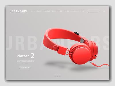 Urbanears / Website Concept UI soft ui concept web page design urbanears web design design graphic design ui
