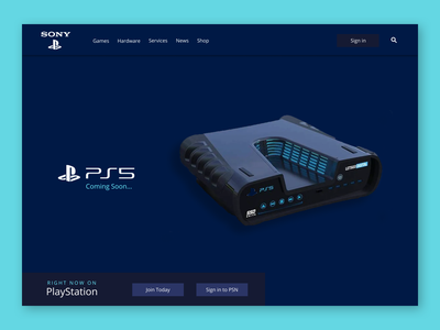 PlayStation/ Web UI Design Concept website concept website design web ui playstation5 ps5 design ux home page design hero design dailyui concept design web design ui concept graphic design