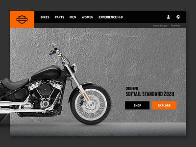 Harley-Davidson / Website Concept UI harley davidson ui design user inteface web page design web page hero design concept designing website design web design dailyui home page design ui concept design concept