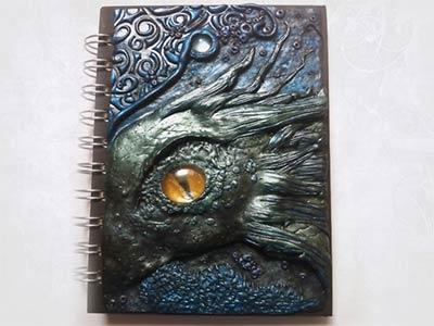 Sea Dragon polymer clay polymerclay dragon fantasy handmade mixed media polymer clay
