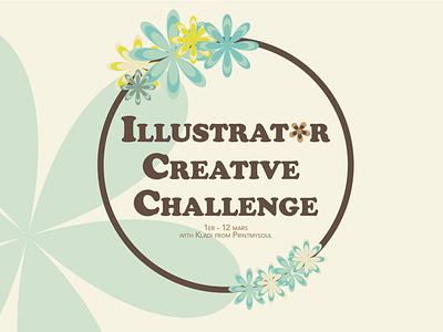 Illustrator Daily Creative Challenge | Day 1 typography vector illustrator illustration flowers flat design challenge adobe