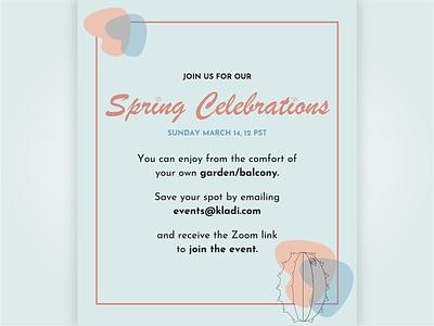 Illustrator Daily Creative Challenge | Day 6 invitation spring vector illustration cactus blue flat illustrator design challenge adobe
