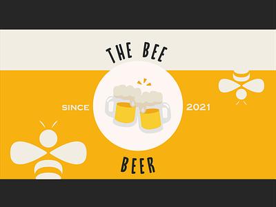 Illustrator Daily Creative Challenge | Day 7 bee beer can beer aicreativechallenge orange vector illustration flat illustrator design challenge adobe