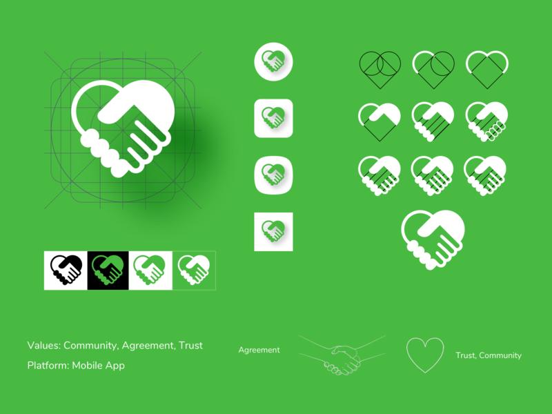 Mobile App Icon vector branding logo design sketch iconography launcher icon launcher icon mobile app