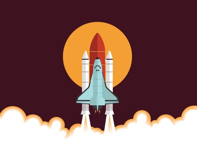 Takeoff space shuttle space takeoff colors vector