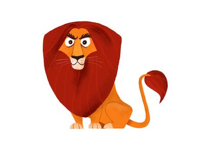 Lion illustration lion