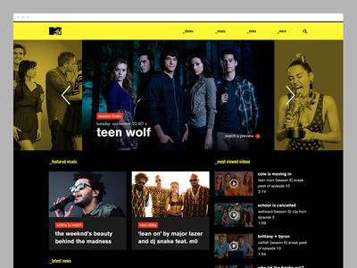 MTV.com Redesign ui design music mtv