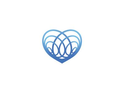 Heart Mark logo design thorax logo abstract heart