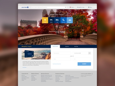 United Airlines Homepage Redesign ui design united airlines web design united redesign