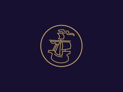Unused Mark logo design caravel logo