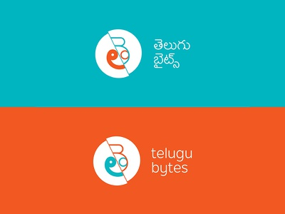 Telugu Bytes Logo logo design typography type non-latin telugu logo
