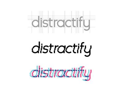 Distractify logo design logo lettering vector