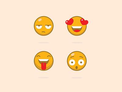 Emojis emoticons emojis illustration vector