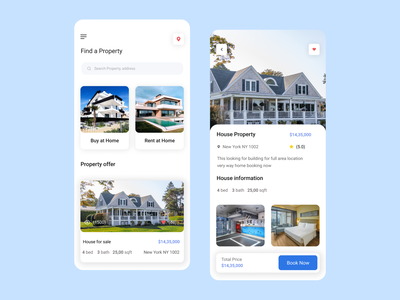 Real Estate Mobile App logo motion graphics animation ui mobile