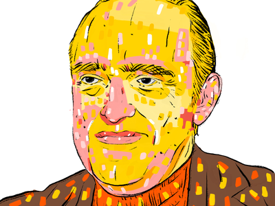 Oscar Niemeyer illustration portrait face architect brezilya oscarniemeyer
