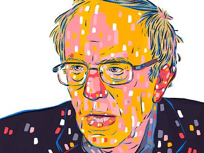 Bernie Sanders illustration portrait demokrats joebiden berniesanders bernie uselections