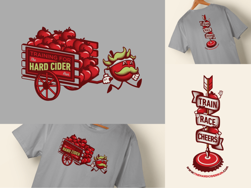 Hard Cider Run :: Training Shirt 2019 halftone