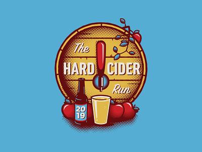 2019 Race Day Shirt (Back) :: Hard Cider Run clothing merchandise swag t-shirt shirt merch apple cider design branding apparel vector illustration