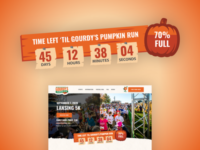 Gourdy's Pumpkin Run :: Event Countdown Timer 5k