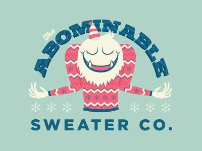 The Abominable Sweater Co. logo ugly sweater sweater yeti abominable snowman xmas holidays days christmas 12