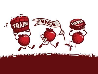 2018 Training Shirt Graphic :: Hard Cider Run