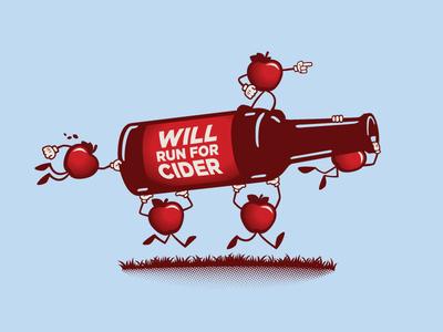 2018 Volunteer Shirt Graphic :: Hard Cider Run