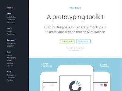 Framer 3 Homepage framer 3 framer framerjs webdesign prototypes interactive