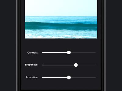 Photo Filter slidercomponent slider animation interaction example prototype framerjs framer