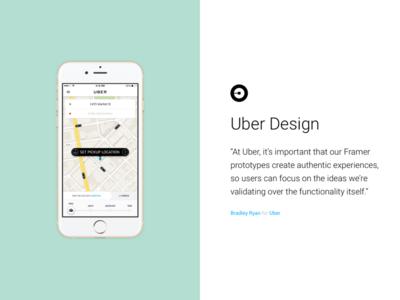 Framer Testimonials — Uber framer js framer framerjs website frontpage testimonial design ios app uber