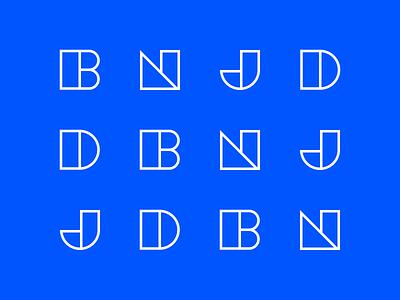 Initials geometry letters branding initials