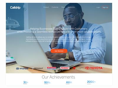 Calldrip @ Home Landing website design web design website branding 2020 ux  ui web ui illustration design dailyui ux webdesign figma
