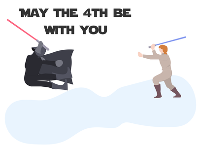 May the 4th be with you illustration design undraw