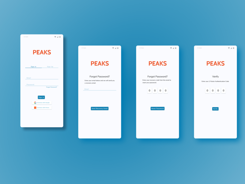 PEAKS Fitness App userinterface user experience uidesign ui design wireframe layout interface application branding product design product ux  ui figma ux ui design dribbble best shot dribble fitness app fitness