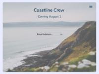 Coastline Crew 2020 dribble daily 100 challenge ux  ui web webdesign figma ux dailyui ui design application
